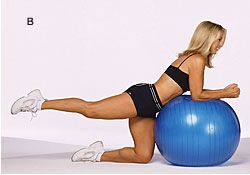 Tones and lifts your buttocks; firms the backs of your thighs; strengthens your arms.