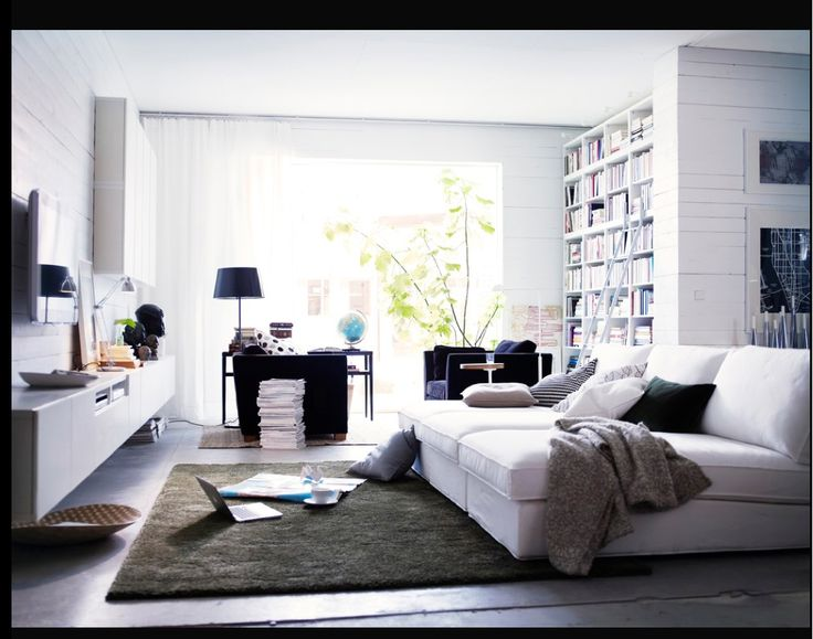 IKEA Share Space Contemporary Summertime Living Room Design Employs A Less Structured More Casual Feel Using Various Textures In Light Or