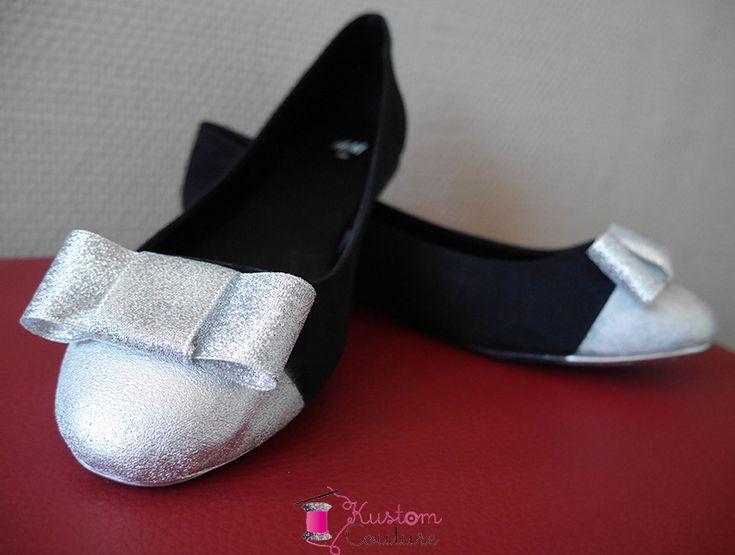 {DIY Chaussures} Ballerines argentées   Customisation d'une paire de ballerines