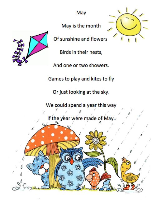 preschool short poems grade onederful may poem printables rhymes poems for 117