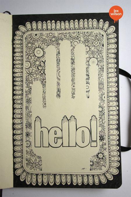 Moleskine typographic illustrations