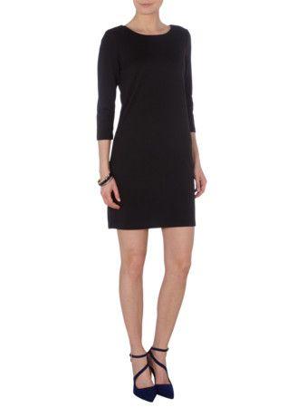 Dieses schöne Vila Jerseykleid mit Dreiviertelarm in Grau / Schwarz bekommt ihr für nur 26,95€ bei http://www.fashionid.de