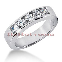 14K Gold Men's Diamond Wedding Band 1ct - Men's Diamond Rings - Mens Diamond Jewelry