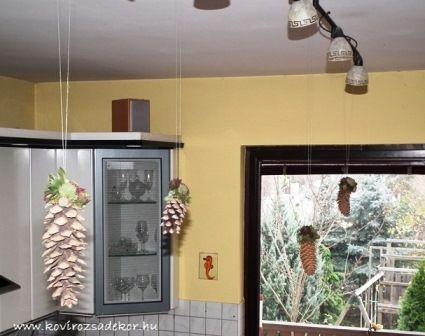 Díszítsük karácsonyra lakásunkat kövirózsás fenyőtobozzal! | Kövirózsa Dekor