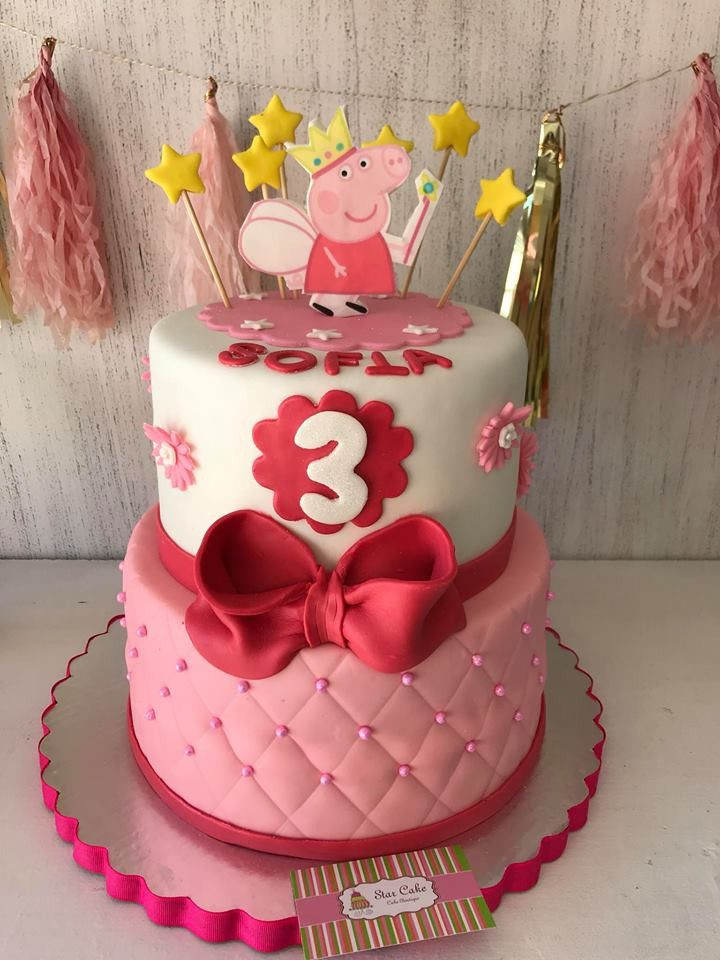 Pastel Fondant Peppa Pig Starcake Fondant Cake Peppa Pig