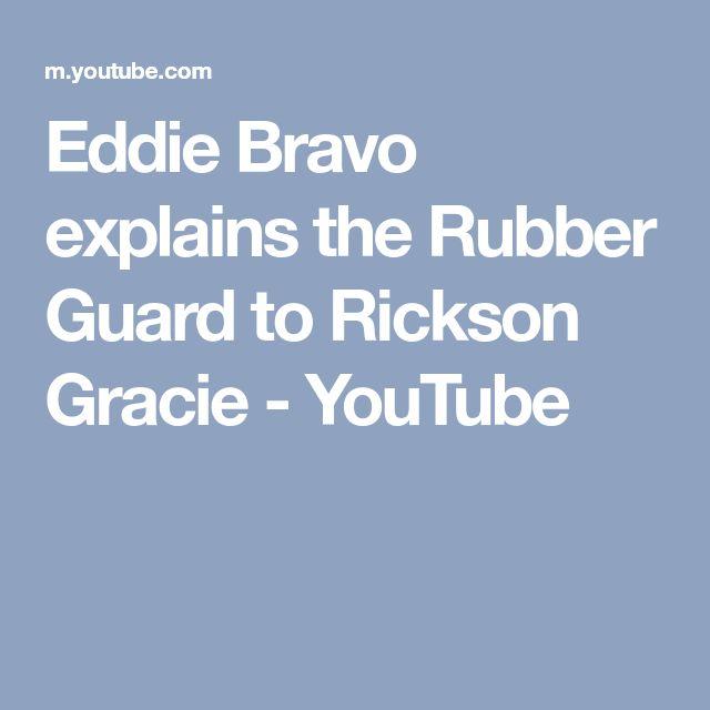 Eddie Bravo explains the Rubber Guard to Rickson Gracie - YouTube