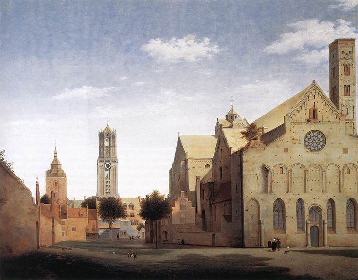 Pieter Jansz Saenredam - St Mary's Square and St Mary's Church at Utrecht, 1662