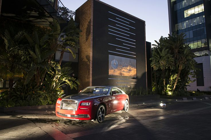 A spectacular view of the Rolls-Royce Wraith, whose craftsmanship was celebrated on the evening