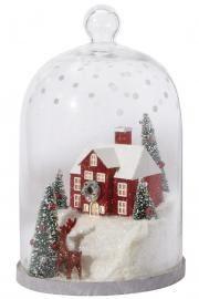 Martha Stewart Living™ Winter House Lighted Cloche Diorama