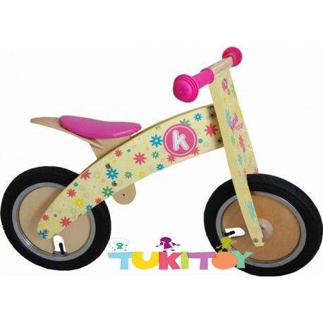 Bicicleta aprendizaje de madera Kiddimoto Kurve Flower  Las #bicicletas #sinpedales de madera #Kiddimoto son perfectas para el #aprendizaje. Estas #bicicletas desarrollan la #motricidad gruesa, el sentido del #equilibrio y la #coordinación. Les enseña a controlar el espacio aumentando su autoconfianza y #seguridad. Fabricada en madera resistente y ligera a la vez permitirá al #niño desplazarse sin mayor dificultad, el sillín es regulable a distintas alturas