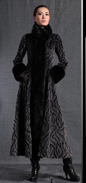 Femmes col de fourrure de Laine Mélange Veste Mince Tranchée Parka Militaire À Long Manteau d'hiver manteau femme femmes capes et ponchoes dans Laine et Mélanges de Femmes de Vêtements et Accessoires sur AliExpress.com | Alibaba Group