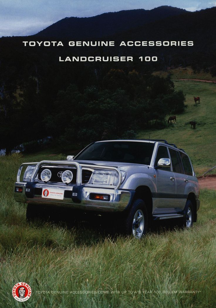 https://flic.kr/p/G9GTKk | Toyota Land Cruiser 100 - Genuine Accessories; 2001  (Australia) | front cover auto car brochure | by worldtravellib World Travel library