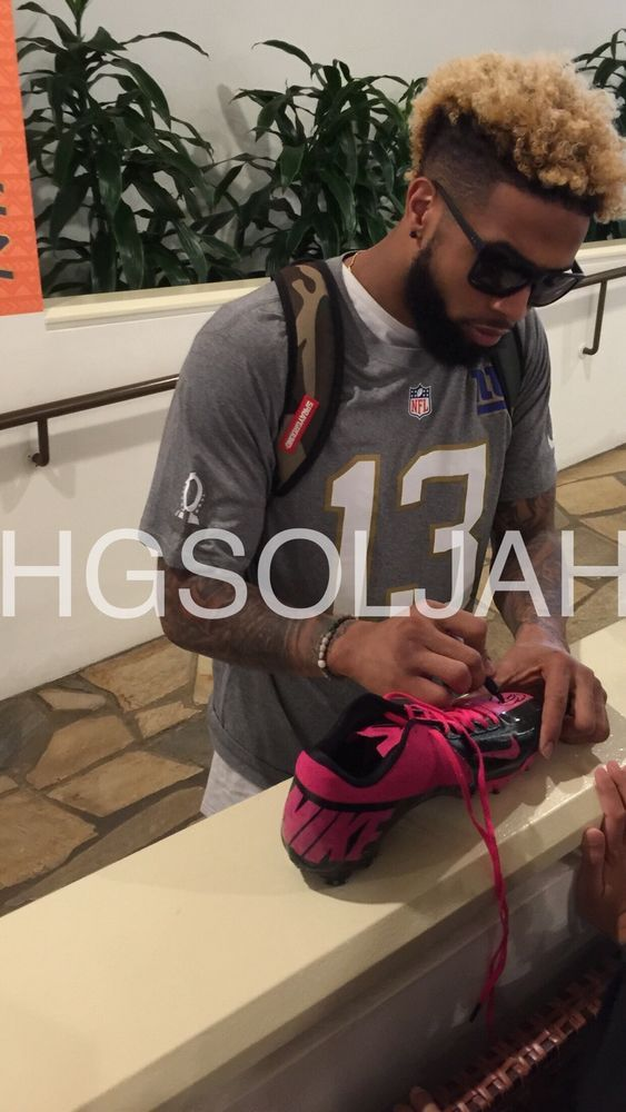 odell beckham jr signed cleat new york giants  exact proof 2016 pro bowl from $215.0