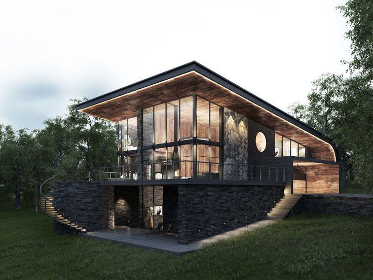 KLIPP house - Загородный дом. Интеграция в реальный ландшафт | PINWIN - конкурсы…