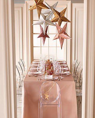 1_Martha_Stewart_Weddings_3D_Stars_Floating_Centerpiece_Constellation_Fishing_Wire_Glitter_DIY_Rice_Paper_Lanterns_Pink_Gold_Bronze_Silver