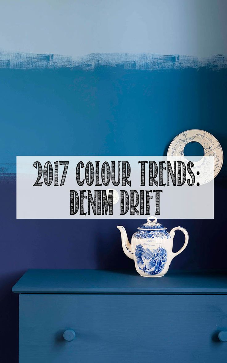 Dulux has announced that Denim Drift will be the interiors colours trend for 2017. Click through to see more examples of how these dark inky blues can be used in the home