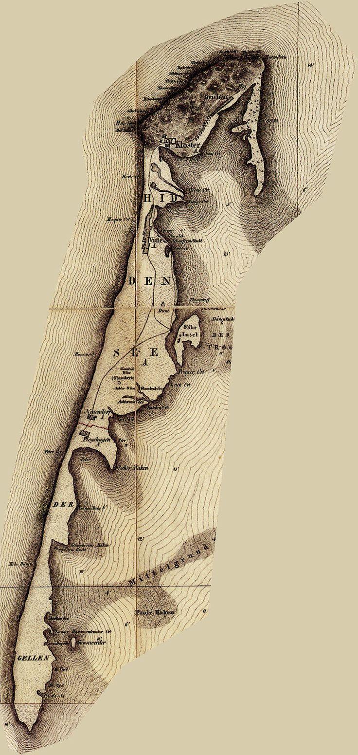 Hiddensee historische karte - Hiddensee – Wikipedia