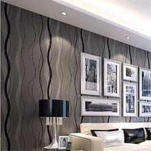 papel de Parede.  Hullám Lines Stripes modern tapéta szürke nem szőtt tapéta klasszikus csillogás tapéta háttér fal fal (Kína (szárazföld))