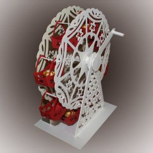 3D SVG Turning Ferris wheel with treat baskets