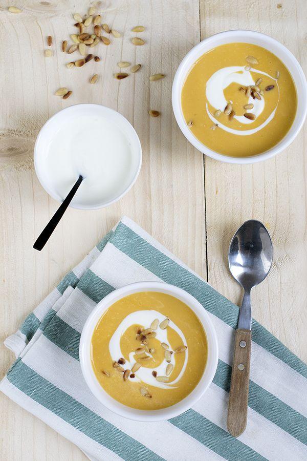 Zoete aardappelsoep met kokosmelk | via BrendaKookt.nl
