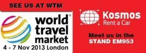 Η Kosmos Rent a Car θα πάρει μέρος στην έκθεση World Travel Market 2013 στο Λονδίνο
