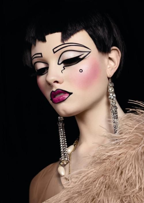 avant garde. think this was part of a past Illamasqua campaign