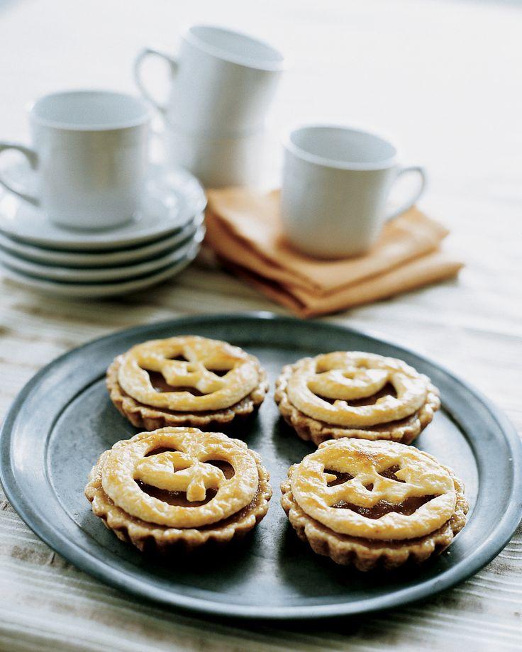jack o lantern tarts martha stewart living these pumpkin tarts are - Martha Stewart Halloween Cakes