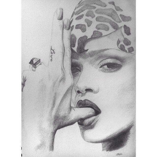Rihanna sketch by @lenitapepa