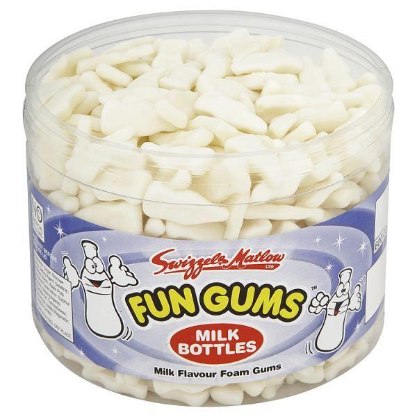 British Fun Gums Retro Sweets Gummy Milk Bottles 600 Count