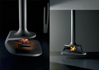 The Gyrofocus Open Central Hanging Fireplace. #jetmaster #modernfireplaces