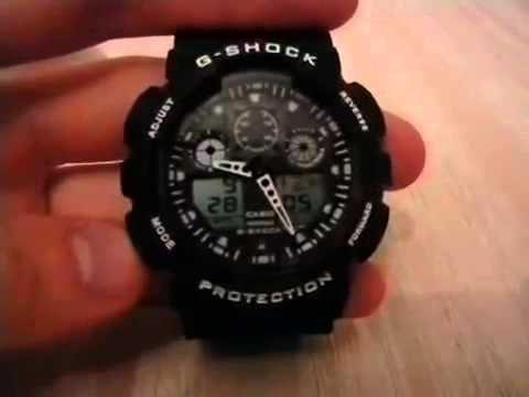 Настройка времени на часах репликах копии casio g shock