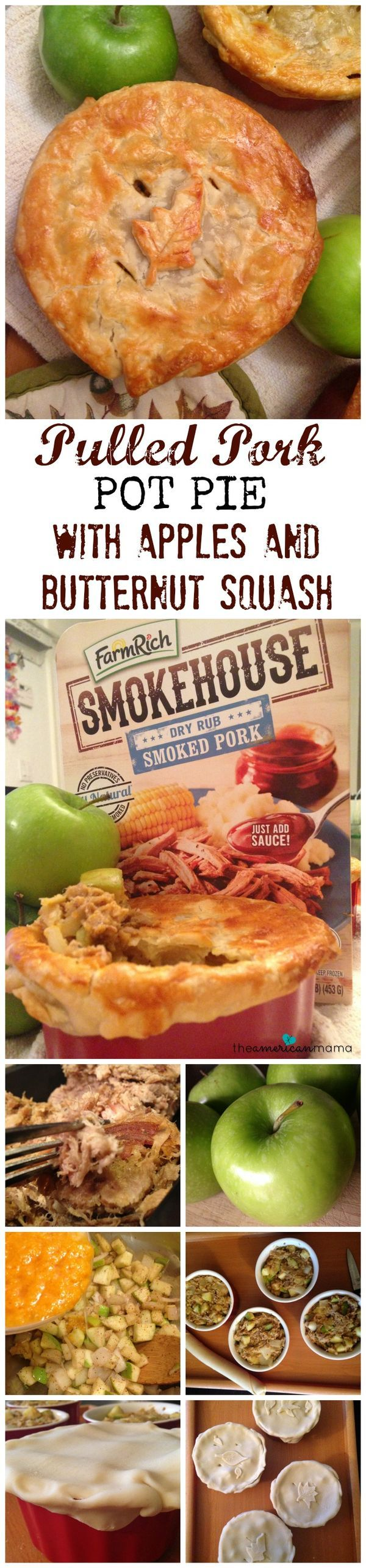 EASY Pulled Pork Recipe for Pot Pie with Apples and Butternut Squash | Great Fall Recipe and Delicious comfort food! Healthy too and this is way easier than those crockpot recipes for pulled pork!