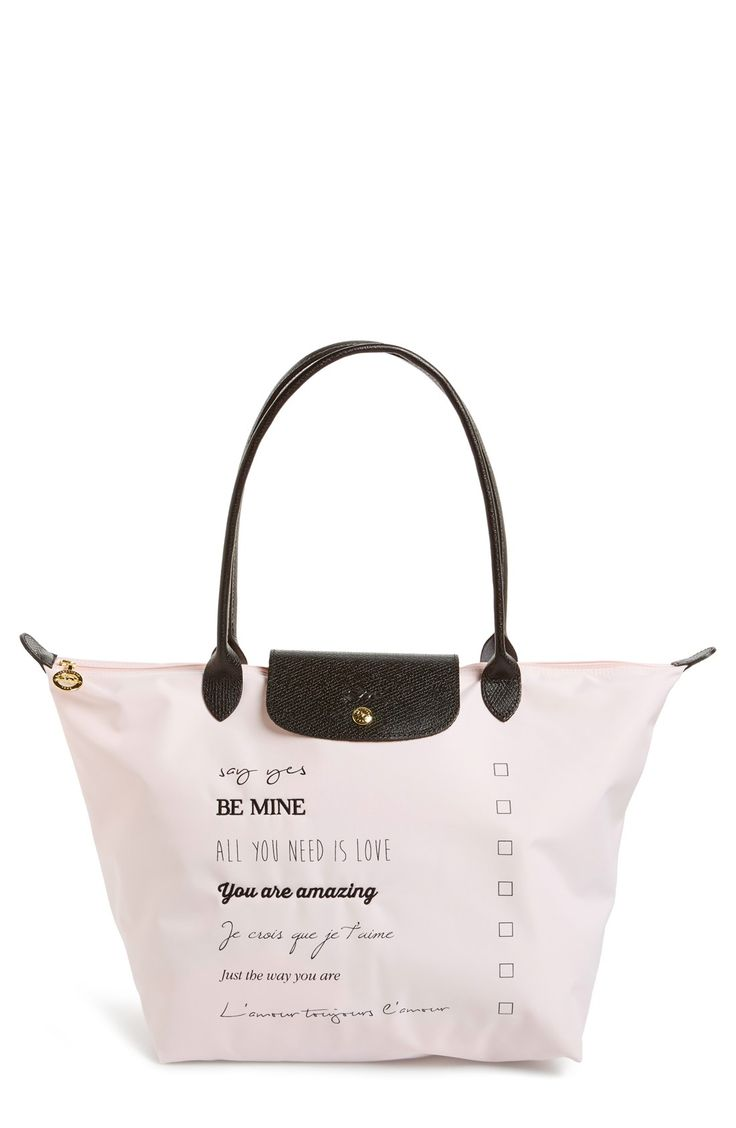 Longchamp \u0026#39;Large Le Pliage - Valentine\u0026#39; Nylon Tote | Longchamp, Nylons and Totes