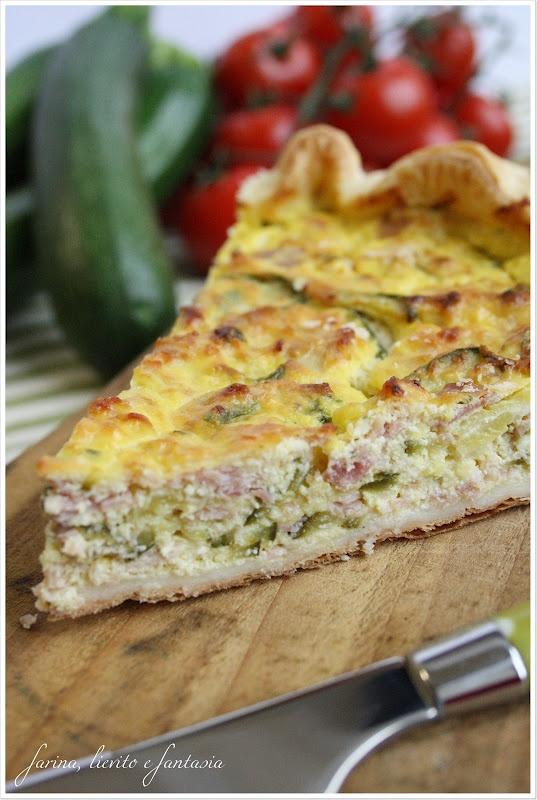 Torta salata con zucchine