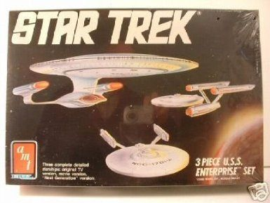 Star Trek 3 Piece U.s.s. Enterprise Set Model Kit @ niftywarehouse.com #NiftyWarehouse #StarTrek #Trekkie #Geek #Nerd #Products