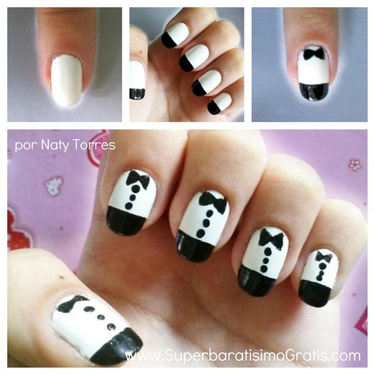 """Belleza: Diseño de uñas """"Esmoquin"""""""