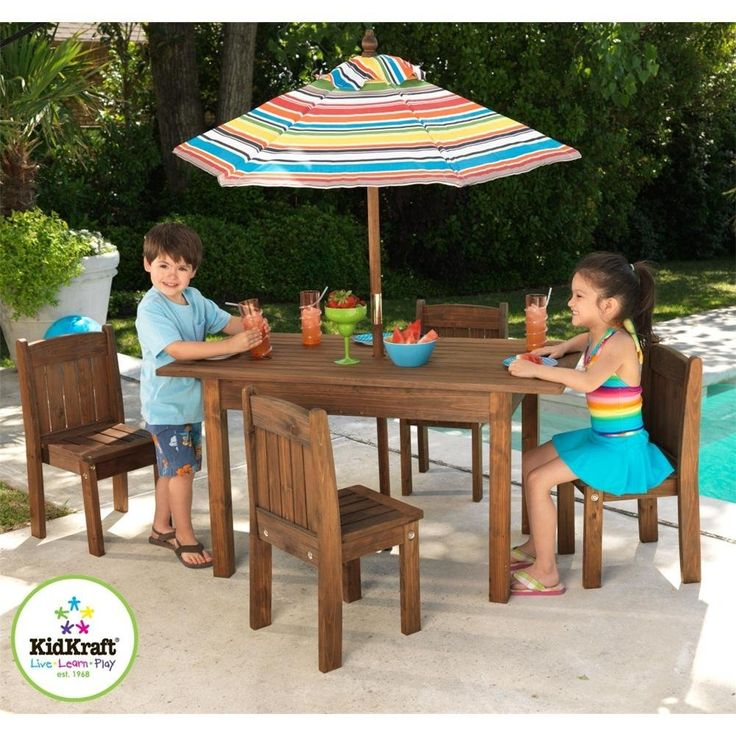 Find This Pin And More On Kids Table And Chair Set. Kidkraft Outdoor ...