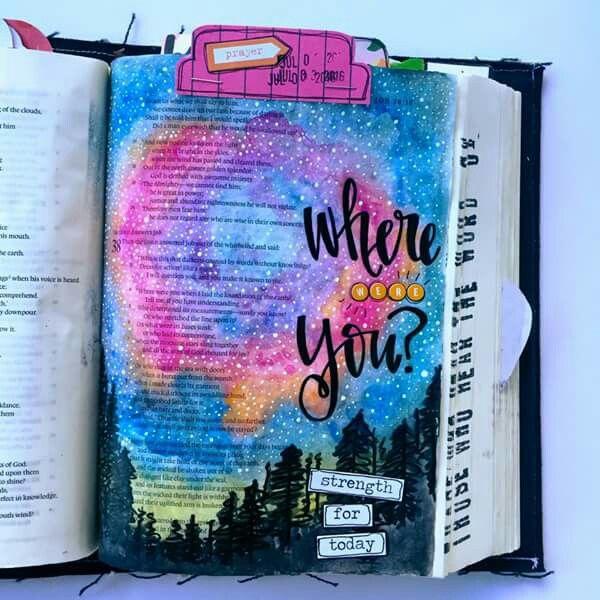 Beautiful Bible journaling!