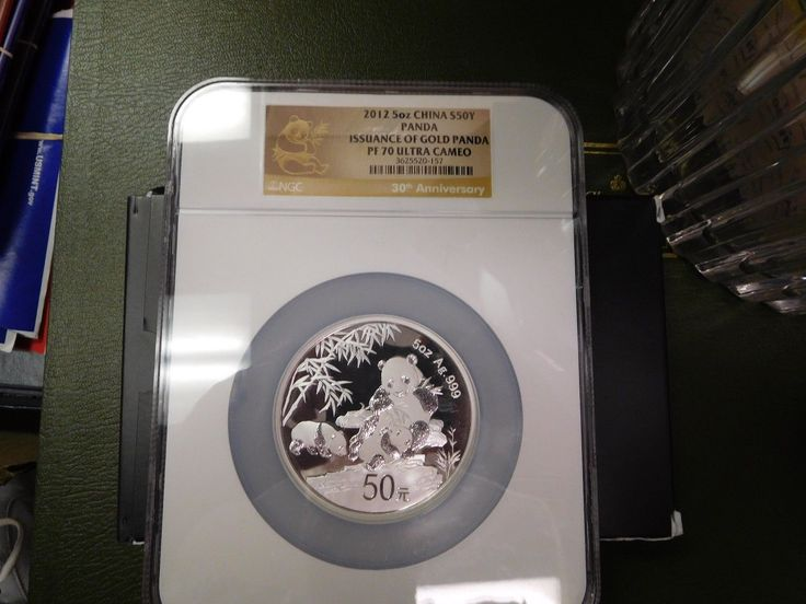 2012 5 oz  SILVER CHINA PANDA ISSUANCE OF GOLD NGC PF 70 UCAM   RARE