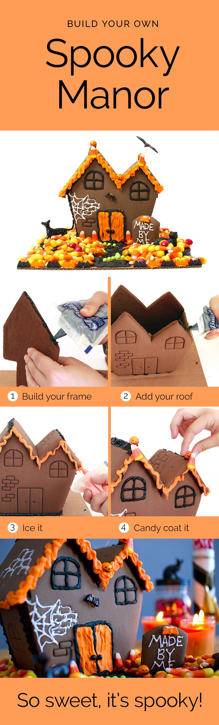 Fun halloween activity with the kids - make a haunted cookie house with this halloween kit