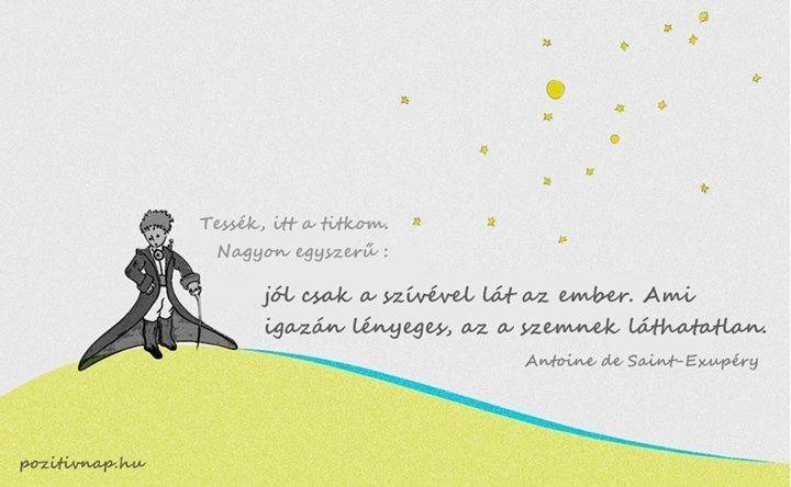 Saint-Exupéry idézete a szeretetről. A kép forrása: Pozitív Nap