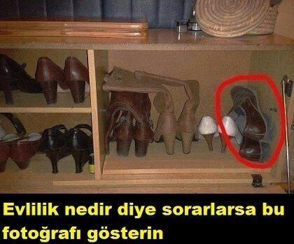 Evlilik nedir diye sorarlarsa bu fotoğrafı gösterin :)) #mizah #matrak #komik #espri #komik #caps