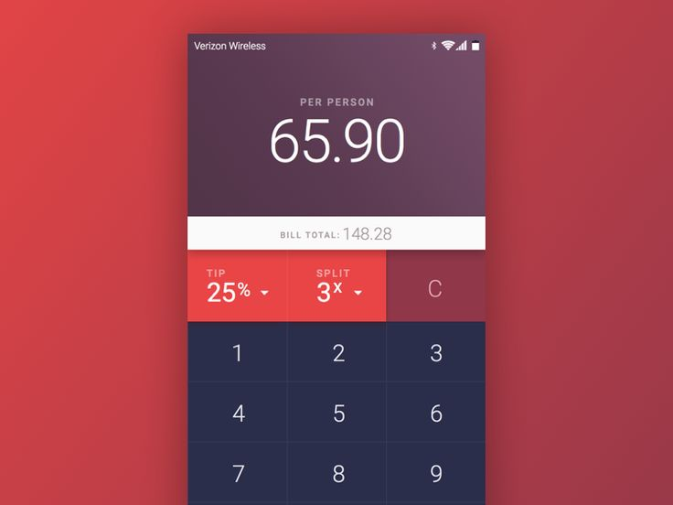 Daily UI - Day 4: Calculator by Mike DelGuidice