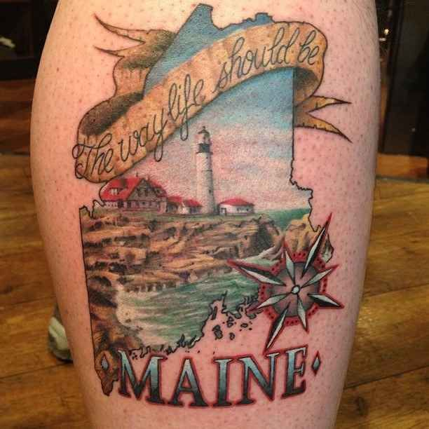best 25 maine tattoo ideas on pinterest oregon tattoo columbine tattoo and pine tree tattoo. Black Bedroom Furniture Sets. Home Design Ideas