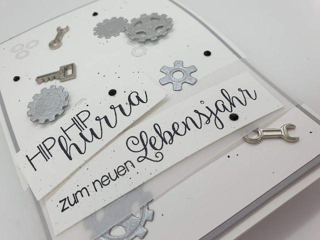 Geburtstagskarte handwerker basteln