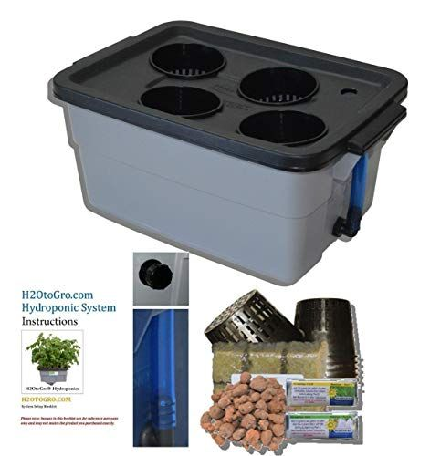 Complete Hydroponic System Dwc Grow Kit 3 4 By H2Otogro 400 x 300