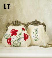 Hecho a mano Bordado Floral Beso Lock Bolsa de Hombro Femenino Shabby Chic Vintage Retro Elegante Rústica Casa de Campo Victoriana Bolso de Etsy
