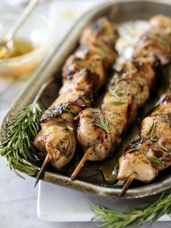 Balsamic and Honey Chicken Skewers on foodiecrush.com