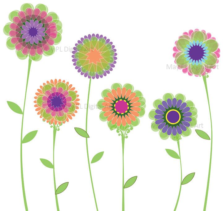 doodle flower clip art - Google Search | Pattern | Pinterest