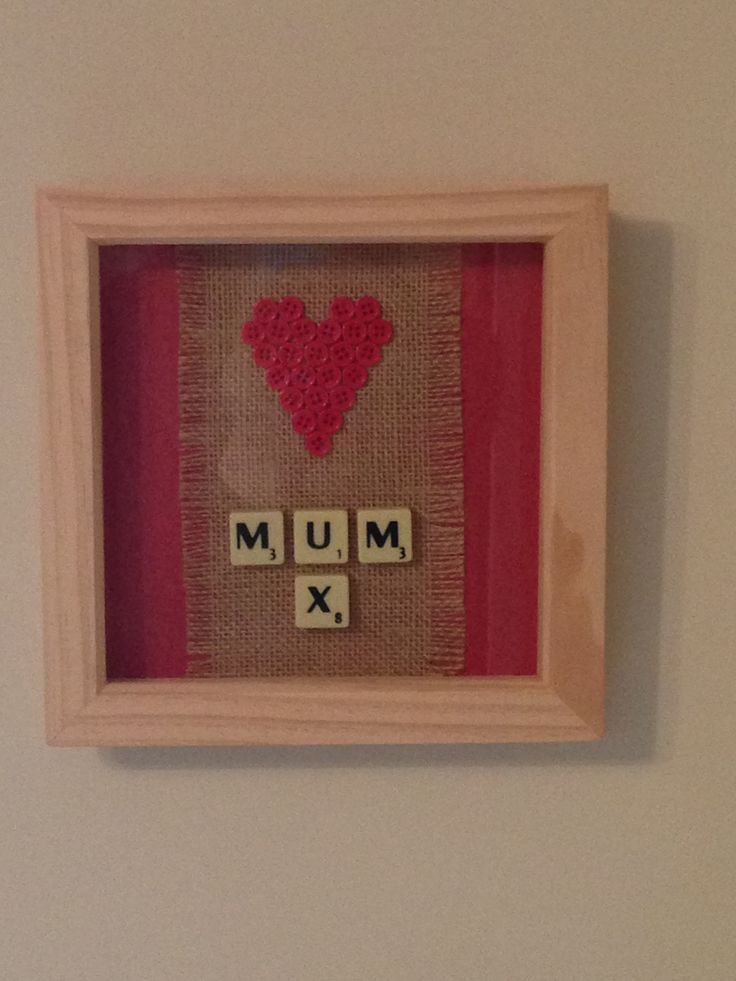 Scrabble art for my mum for Mother's Day.